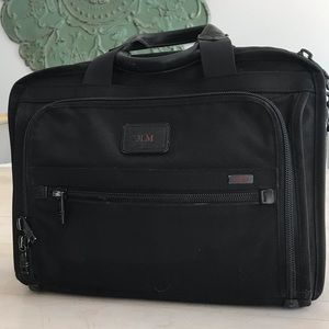TUMI Nylon Briefcase with Shoulder Strap
